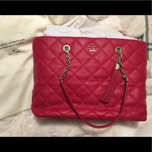 Red Authentic Kate Spade ♠️ bag tote purse